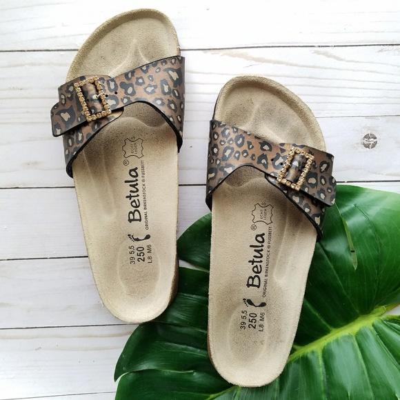 affff3c944f5 Birkenstock Shoes - Betula Birkenstock Luca Sandals Slide Leopard